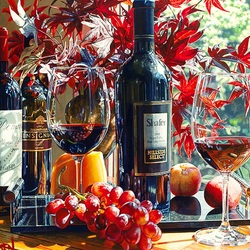 Jigsaw puzzle: Still life with wine