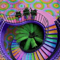 Jigsaw puzzle: Colorful stairs