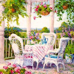 Jigsaw puzzle: On the veranda