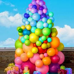 Jigsaw puzzle: Bright balls with gifts