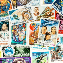 Jigsaw puzzle: Space stamps