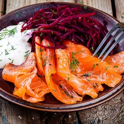 Jigsaw puzzle: Fish with beets