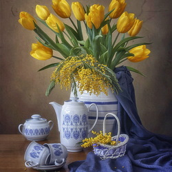 Jigsaw puzzle: Still life with tulips