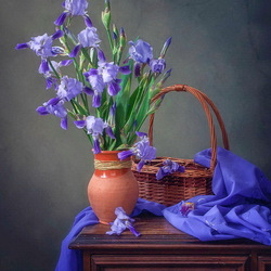 Jigsaw puzzle: Cold beauty of irises