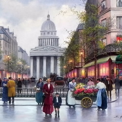 Jigsaw puzzle: Old Paris romance