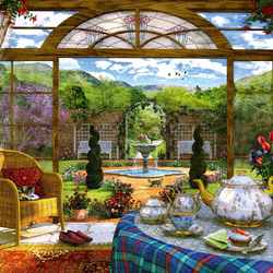 Jigsaw puzzle: Winter garden view