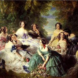 Jigsaw puzzle: Empress Eugenie surrounded by maids of honor