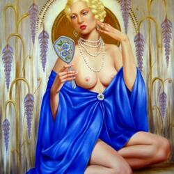 Jigsaw puzzle: Lady in blue