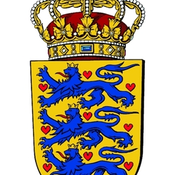 Jigsaw puzzle: Coat of arms of Denmark