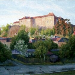 Jigsaw puzzle: View of the Uzhgorod castle