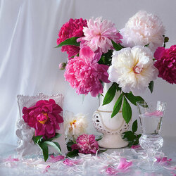 Jigsaw puzzle: Peonies gentle cool