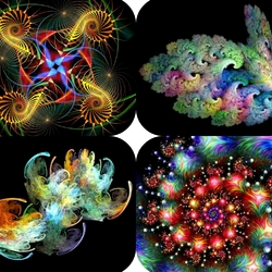 Jigsaw puzzle: Fractal collage