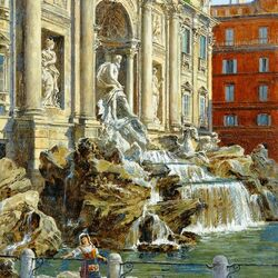 Jigsaw puzzle: Trevi Fountain