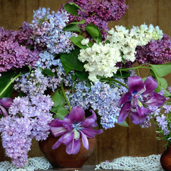 Jigsaw puzzle: In lilac tones