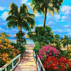 Jigsaw puzzle: Path to the sea
