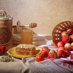Jigsaw puzzle: Apples and honey