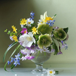 Jigsaw puzzle: Small delicate bouquet