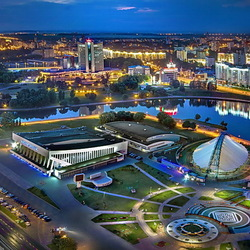 Jigsaw puzzle: Night Minsk