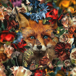 Jigsaw puzzle: Colored fox