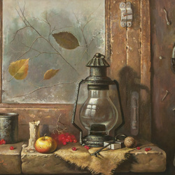 Jigsaw puzzle: Still life with lamp