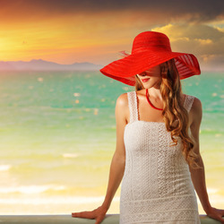 Jigsaw puzzle: Girl in red hat