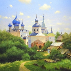 Jigsaw puzzle: In the vicinity of Suzdal