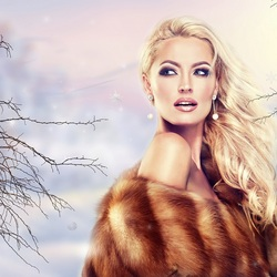 Jigsaw puzzle: Winter girl