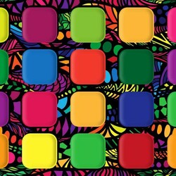 Jigsaw puzzle: Multicolored squares