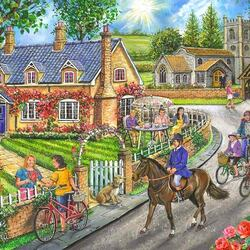 Jigsaw puzzle: Bike ride