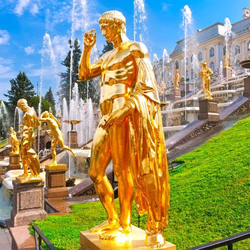 Jigsaw puzzle: Golden fountains in Peterhof