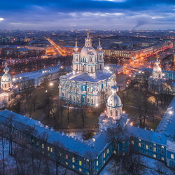 Jigsaw puzzle: The ensemble of the Smolny Monastery