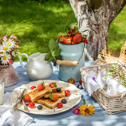 Jigsaw puzzle: Picnic in nature
