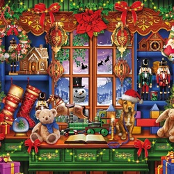 Jigsaw puzzle: Christmas shop