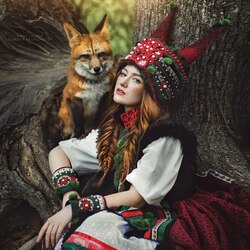 Jigsaw puzzle: Girl with a fox