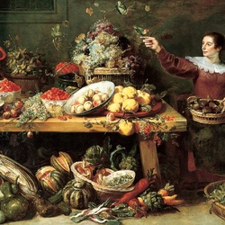 Jigsaw puzzle: Still life with fruits and vegetables