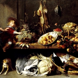 Jigsaw puzzle: Still life with a maid and a boy