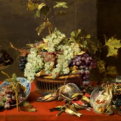 Jigsaw puzzle: Still life with grapes and prey
