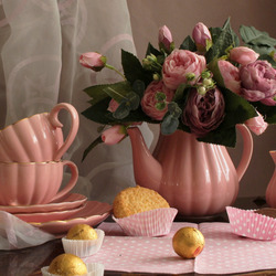 Jigsaw puzzle: Tea with roses