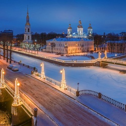 Jigsaw puzzle: Winter Petersburg