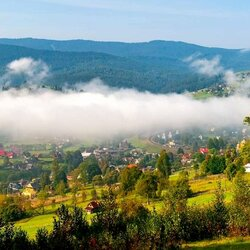 Jigsaw puzzle: Morning in the Carpathians