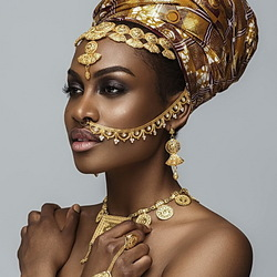 Jigsaw puzzle: African beauty