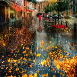 Jigsaw puzzle: Rainy autumn