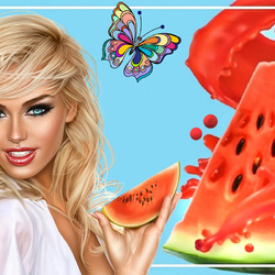 Jigsaw puzzle: Watermelon