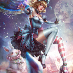 Jigsaw puzzle: Alice in Crystal Land
