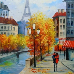 Jigsaw puzzle: Autumn in Paris