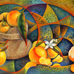 Jigsaw puzzle: Still life with oranges