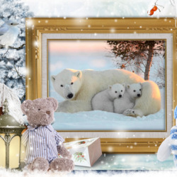 Jigsaw puzzle: She-bear and cubs