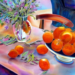 Jigsaw puzzle: Still life with tangerines