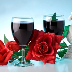 Jigsaw puzzle: Wine and roses