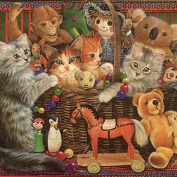 Jigsaw puzzle: Ah, these cats